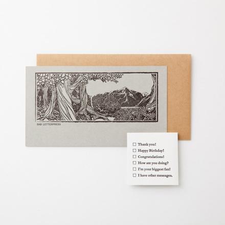 〈SAB LETTERPRESS〉の、気持ちを届けるメッセージカード