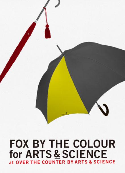 雨の日が待ち遠しくなる1本を。〈ARTS<u>&</u>SCIENCE〉初となる英国老舗〈フォックス・アンブレラ〉のパターンオーダー会